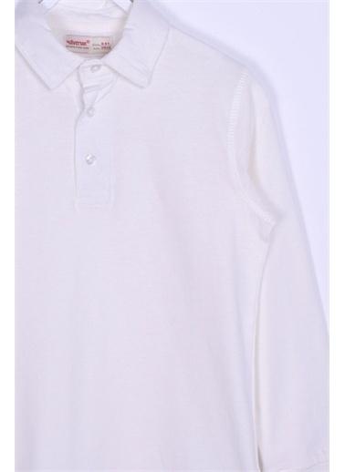 Silversun Kids Polo Gömlek Örme Uzun Kollu Polo Yaka Tişört Erkek Çocuk Bk 310474 Ekru